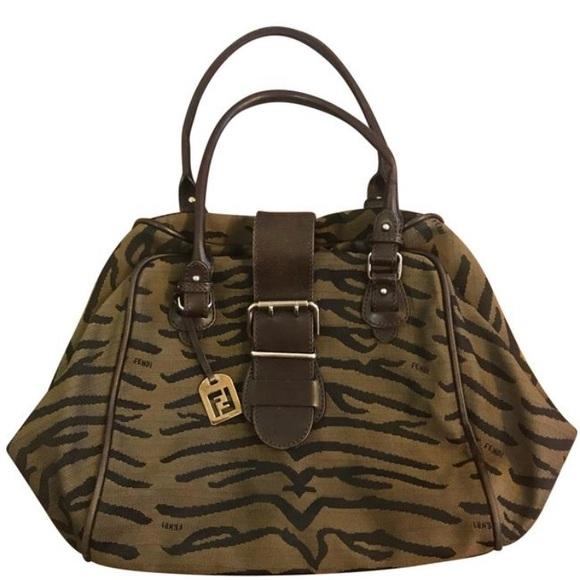 5127f80af3de Fendi Handbags - VINTAGE Fendi Zebra Print Fabric Handbag